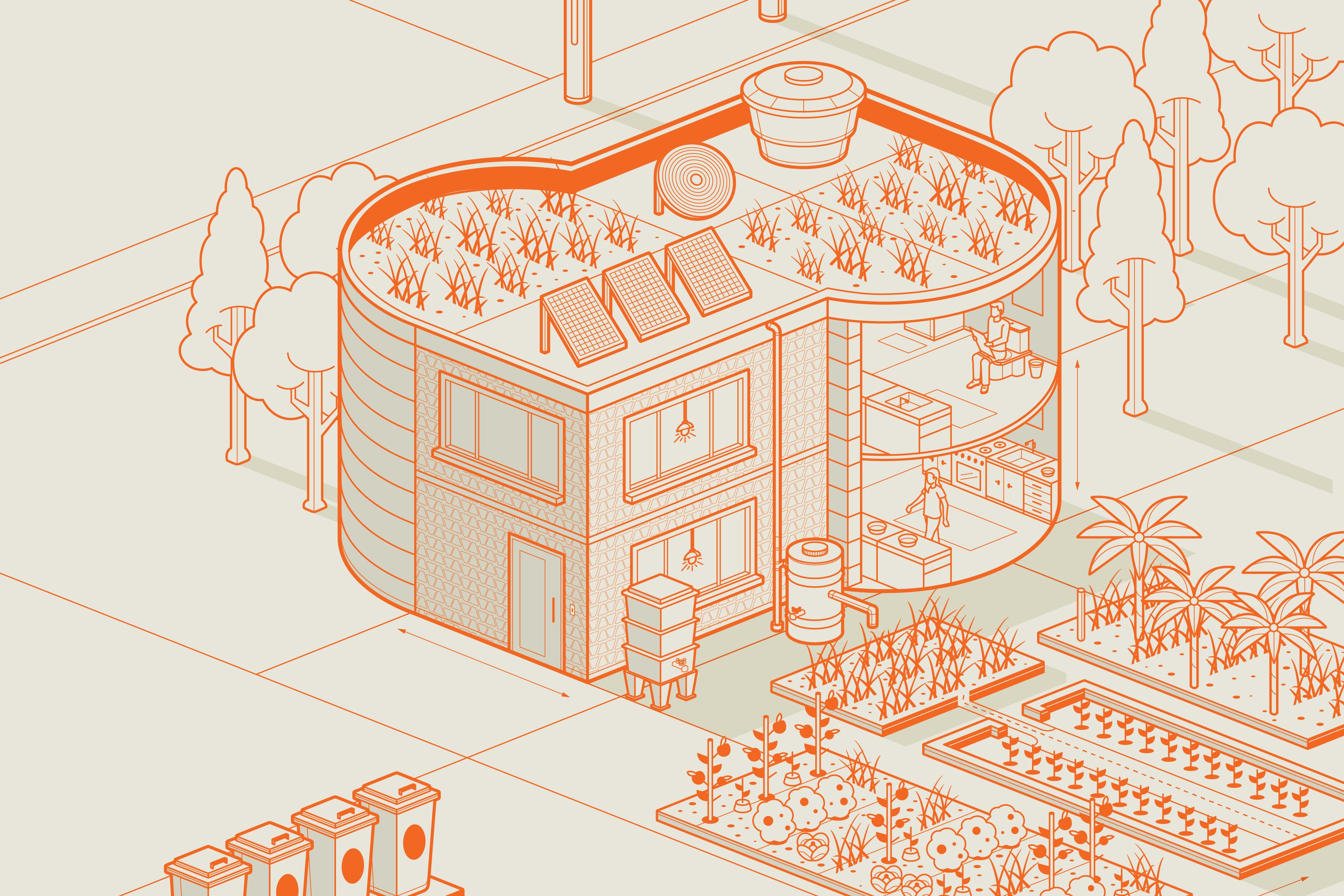 bd18bc1c4cb4f Minhocário é um dos elementos para uma casa mais autossuficiente. (Foto   Ilustração -