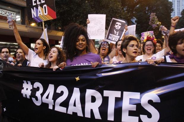 Fernanda Lima, Cris Vianna, Lan Lanh e Nanda Costa (Foto: Wallace Barbosa/Agnews)