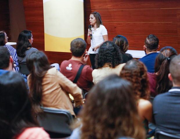 Casais assistiam atentos ao workshop (Foto: Ricardo Cardoso)