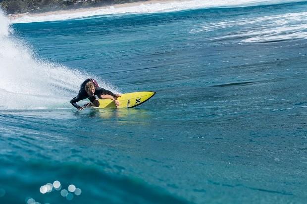 John John Florence aproveita para surfar durante suas férias no circuito (Foto: Pedro Abreu)