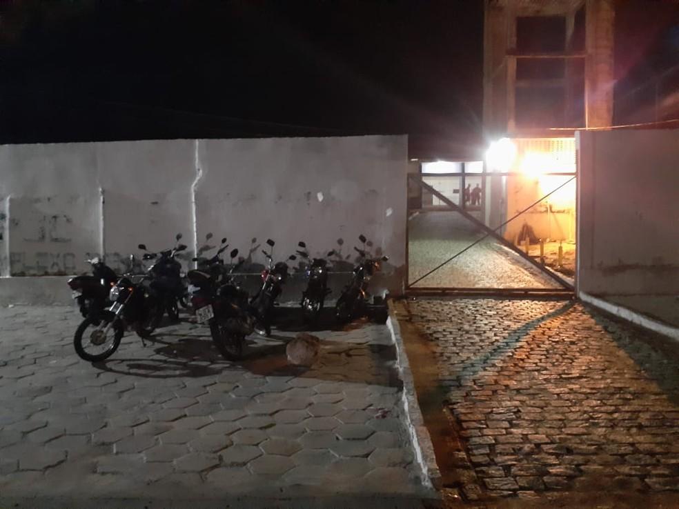 ala do regime semiaberto do Complexo Penal João Chaves, em Natal — Foto: Kleber Teixeira/Inter TV Cabugi