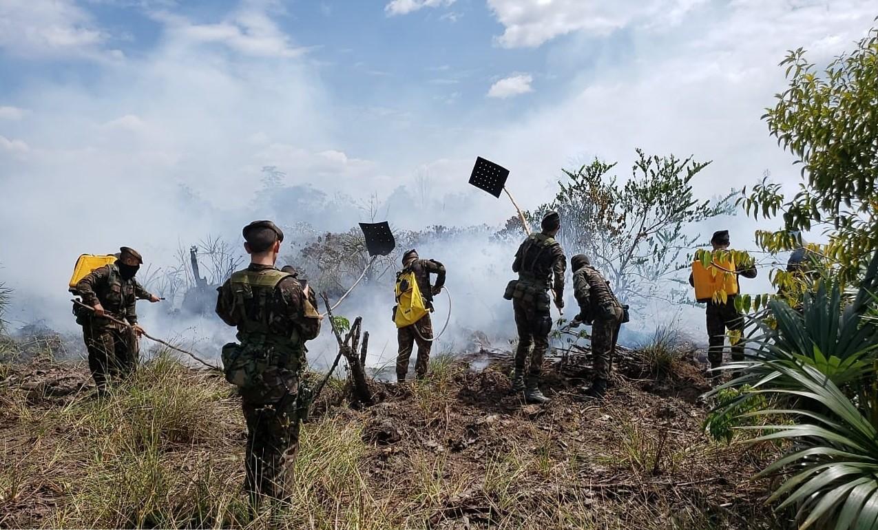 Em 1 dia, Exército identifica e combate 13 focos de incêndio na capital e no interior do Amapá - Notícias - Plantão Diário