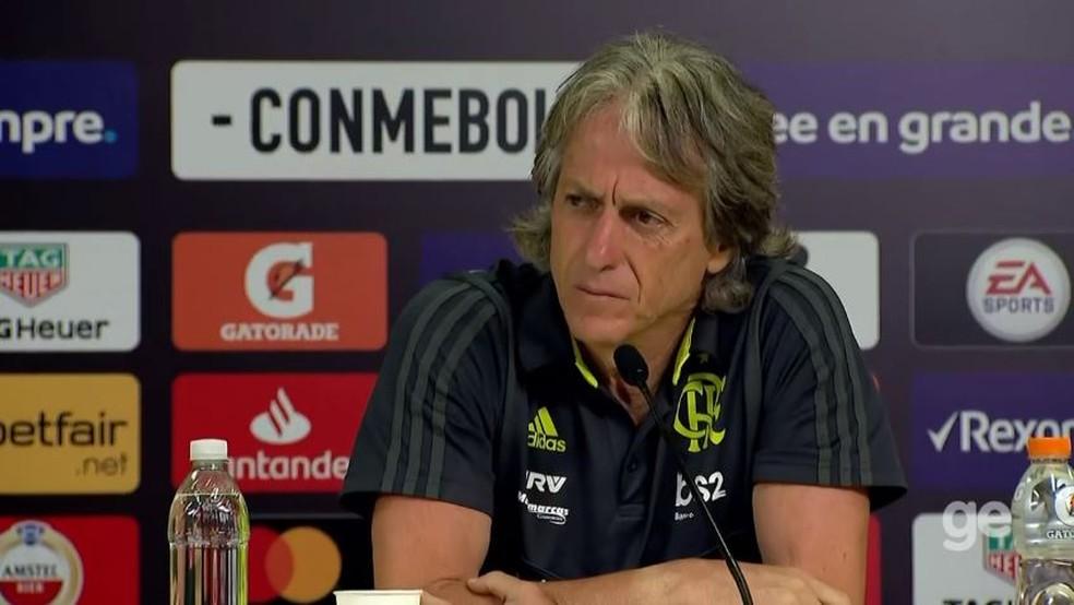 Jorge Jesus, técnico do Flamengo — Foto: Reprodução