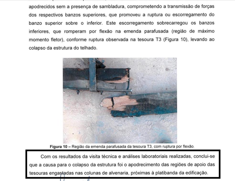 Teto de creche em Agudos cedeu e feriu 16 crianças e quatro adultos (Foto: Divulgação/IPT)