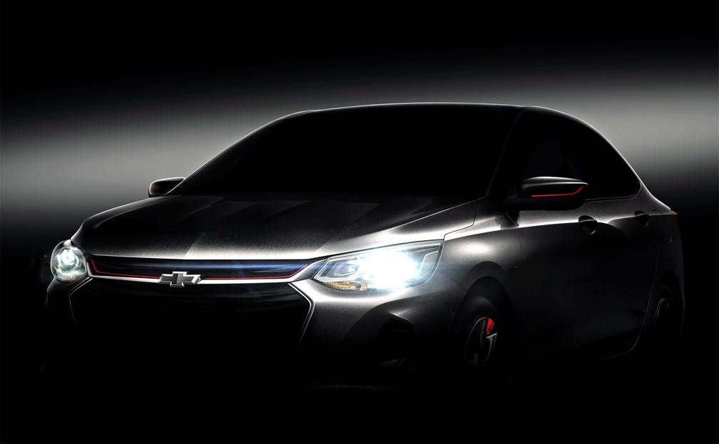 Teaser do novo Chevrolet Prisma — Foto: Divulgação