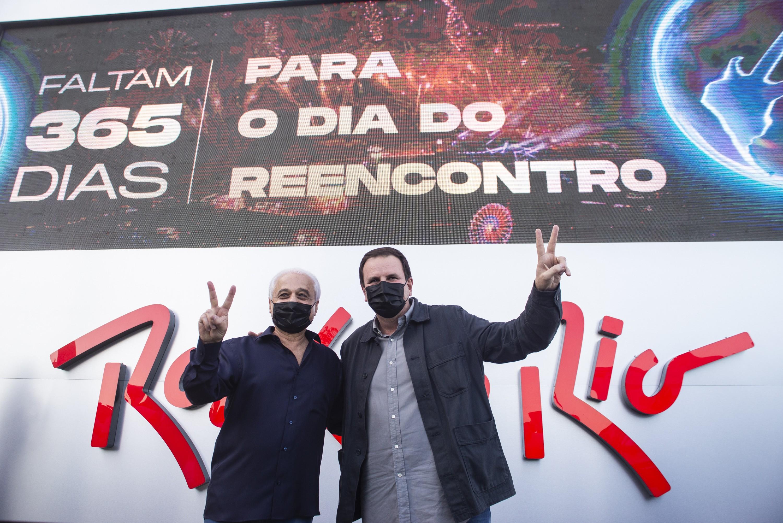 Roberto Medina e Eduardo Paes (Foto: Divulgação / Rock in Rio)