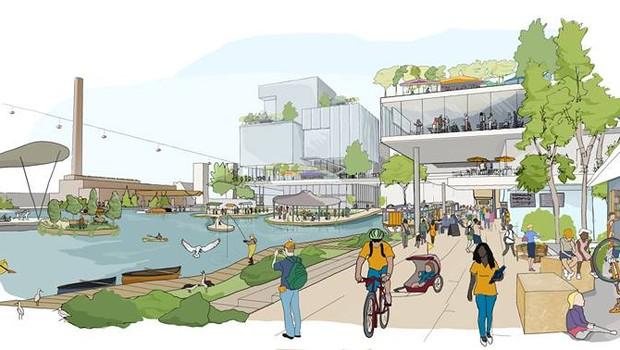 Uma ilustração conceitual para o bairro de calçada do Sidewalk Labs (Foto: Facebook / Sidewalk Toronto)