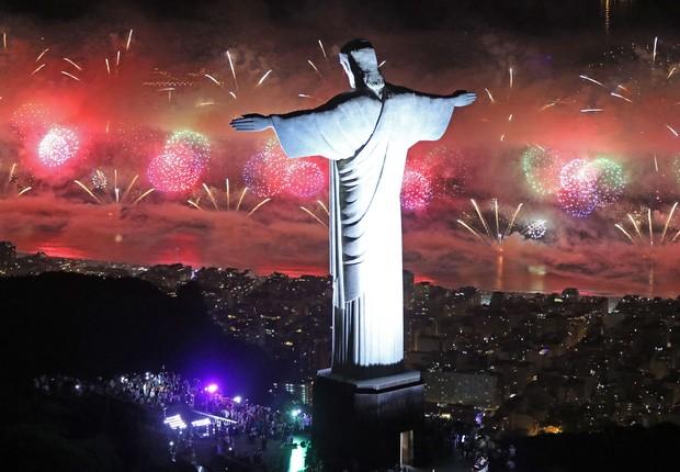 Queima de fogos de 2018 do Rio de Janeiro, ano novo, Réveillon (Foto: Fernando Maia/Riotur)