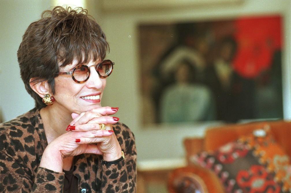 Ruth Escobar em foto de 1999 (Foto: Kathia Tamanaha/Estadão Conteúdo/Arquivo)