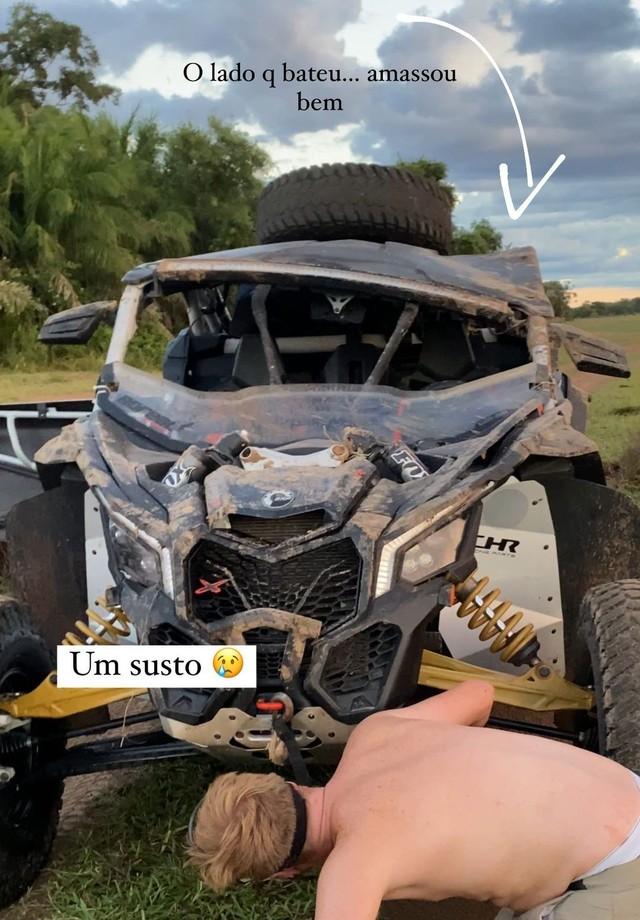 Gabi Luthai e Teo Teló sofrem acidente com UTV (Foto: Reprodução/Instagram)