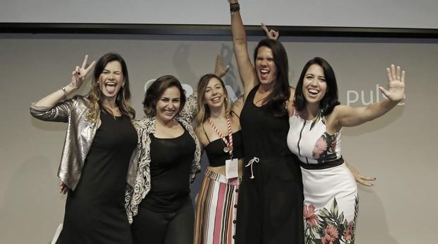 Micheli Junco, Bianca Levy, Jaqueline Romanelli, Dani Junco e Juliana Lopes; sócias da B2Mamy (Foto: Divulgação)
