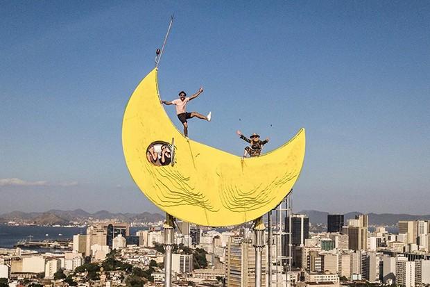 Abrigo em forma de lua no topo da Casa Amarela foi inaugurada no fim do ano passado. (Foto: reprodução / instagram )