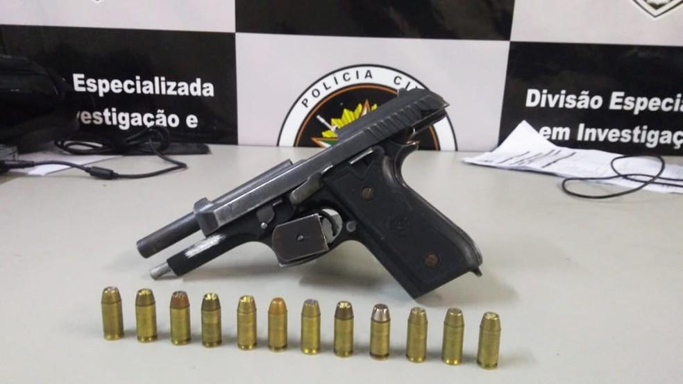 Arma do policial civil André Severiano foi recuperada  — Foto: Polícia Civil do RN/Divulgação