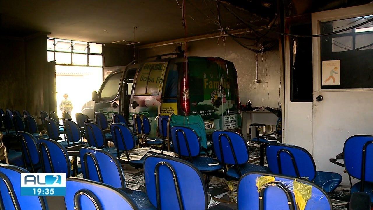 Incêndio no prédio do Bolsa Família em Arapiraca pode ter sido criminoso