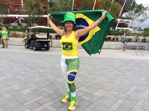 Vanda Lucia veio de Imperatriz, Maranhão: 'Estive no Pan e agora vim para a Olimpíada' (Foto: Matheus Rodrigues/G1)