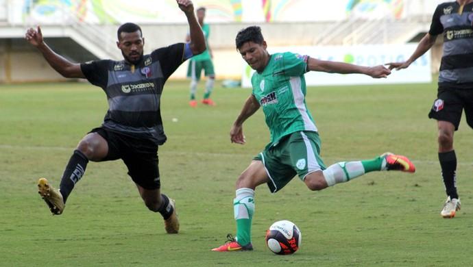 Léo Bahia atacante do Alecrim (Foto: Fabiano de Oliveira/GloboEsporte.com)