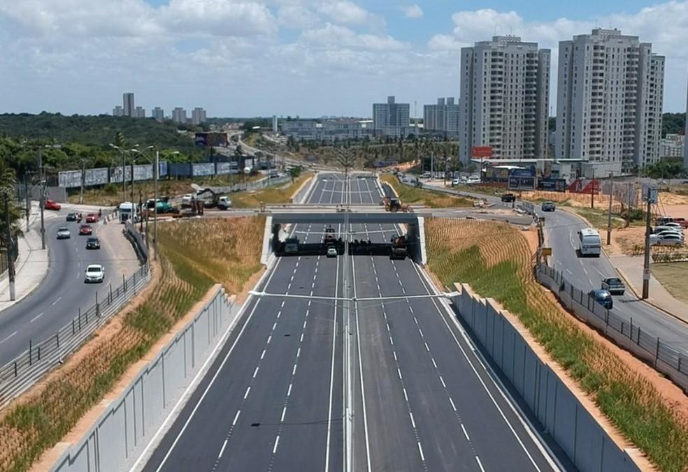 Trincheira da BR-101 próximo à avenida Maria Lacerda, na Grande Natal, será liberada no próximo sábado (29) — Foto: Dnit/Divulgação