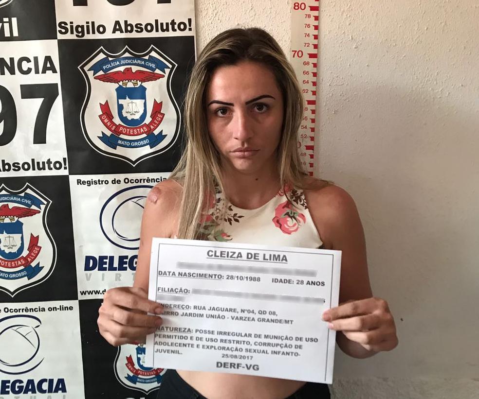'Bibi de VG' foi presa na sexta-feira (25) em Várzea Grande (MT) (Foto: Polícia Civil/Divulgação)
