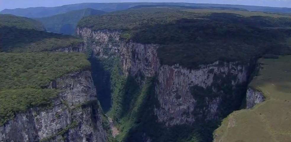 Parque Aparados da Serra será concedido à iniciativa privada  — Foto: Reprodução/RBS TV