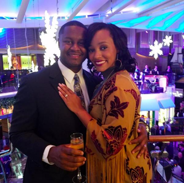 La'Reina Haynes e o marido (Foto: Instagram)