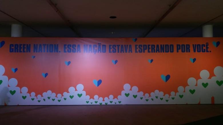 Evento Green Nation, em São Paulo (Foto: Ailane Roma )