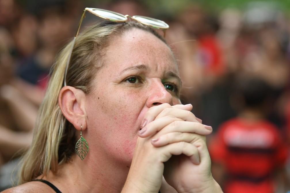 Lance perigoso a favor do Liverpool — Foto: Alexandre Durão / G1