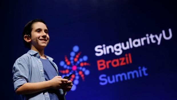 João Paulo Guerra Barrera, durante o Singularity Brazil Summit 2019 (Foto: Divulgação)