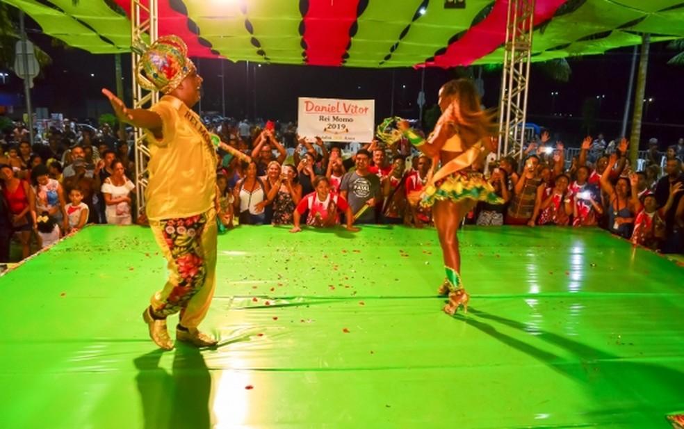 Rei e rainha do Carnaval 2019 — Foto: Davi Valle/Prefeitura de Cuiabá