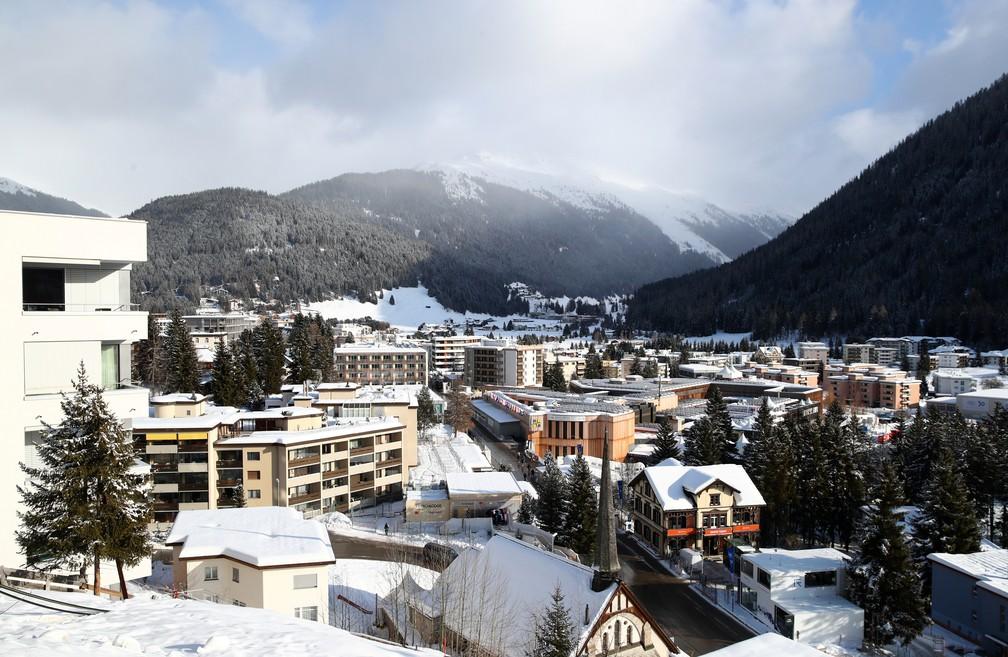 Davos, que recebe a partir desta terça o Fórum Econômico Mundial — Foto: Denis Balibouse/Reuters