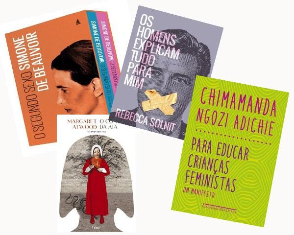 Alguns dos livros que me ajudaram a formar a ideia de feminismo para meus filhos (Foto: Divulgação)