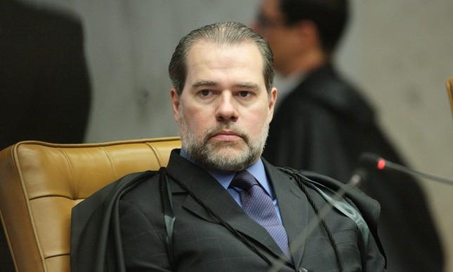 O ministro Dias Toffoli durante julgamento