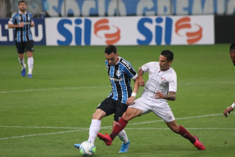 Pepê foi o substituto de Everton em vitória do Grêmio — Foto: Eduardo Moura