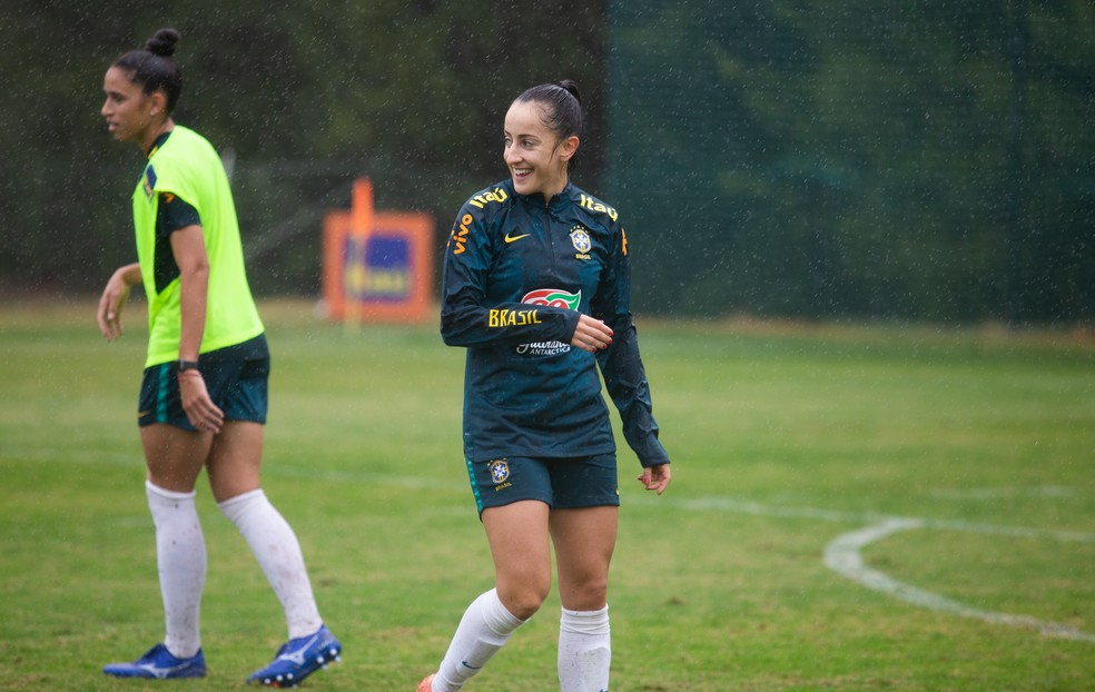 Luana, da Seleção Brasileira e do PSG — Foto: Laura Zago/CBF