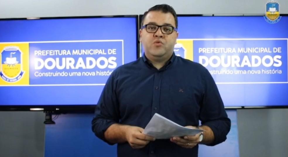 Prefeito de Dourados, Alan Guedes — Foto: Reprodução/Redes Sociais