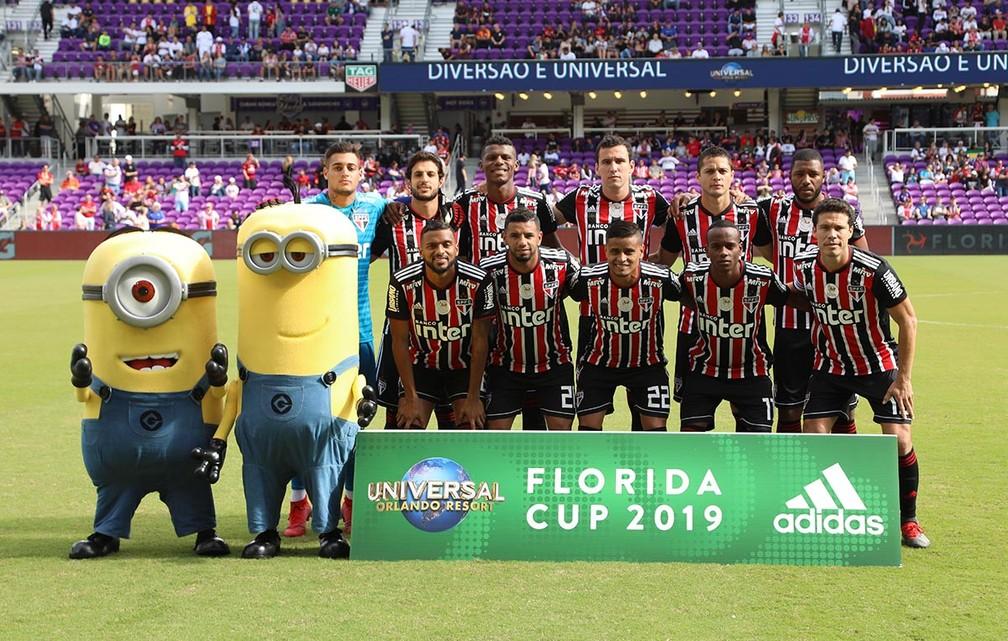 São Paulo jogou o Torneio da Flórida antes da eliminação na Libertadores de 2019 — Foto: Rubens Chiri / saopaulofc.net