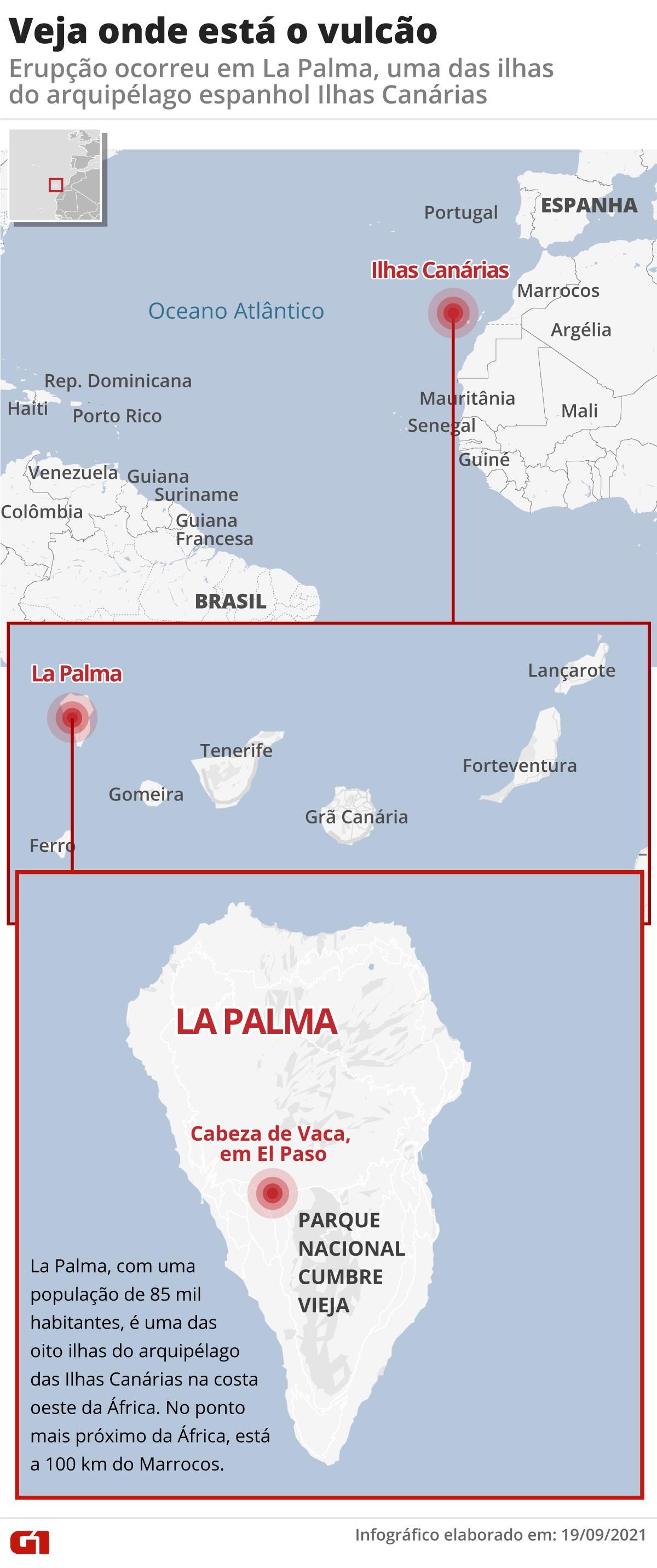 Risco de tsunami após vulcão das Ilhas Canárias entrar em erupção é remoto; entenda