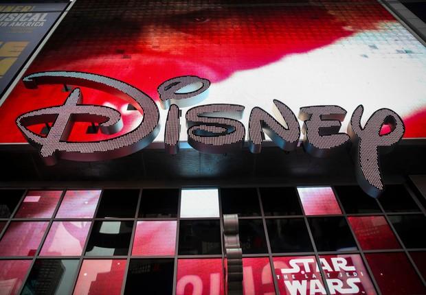 Logo da Disney na Times Square, em Nova Iorque  (Foto: Drew Angerer/Getty Images)