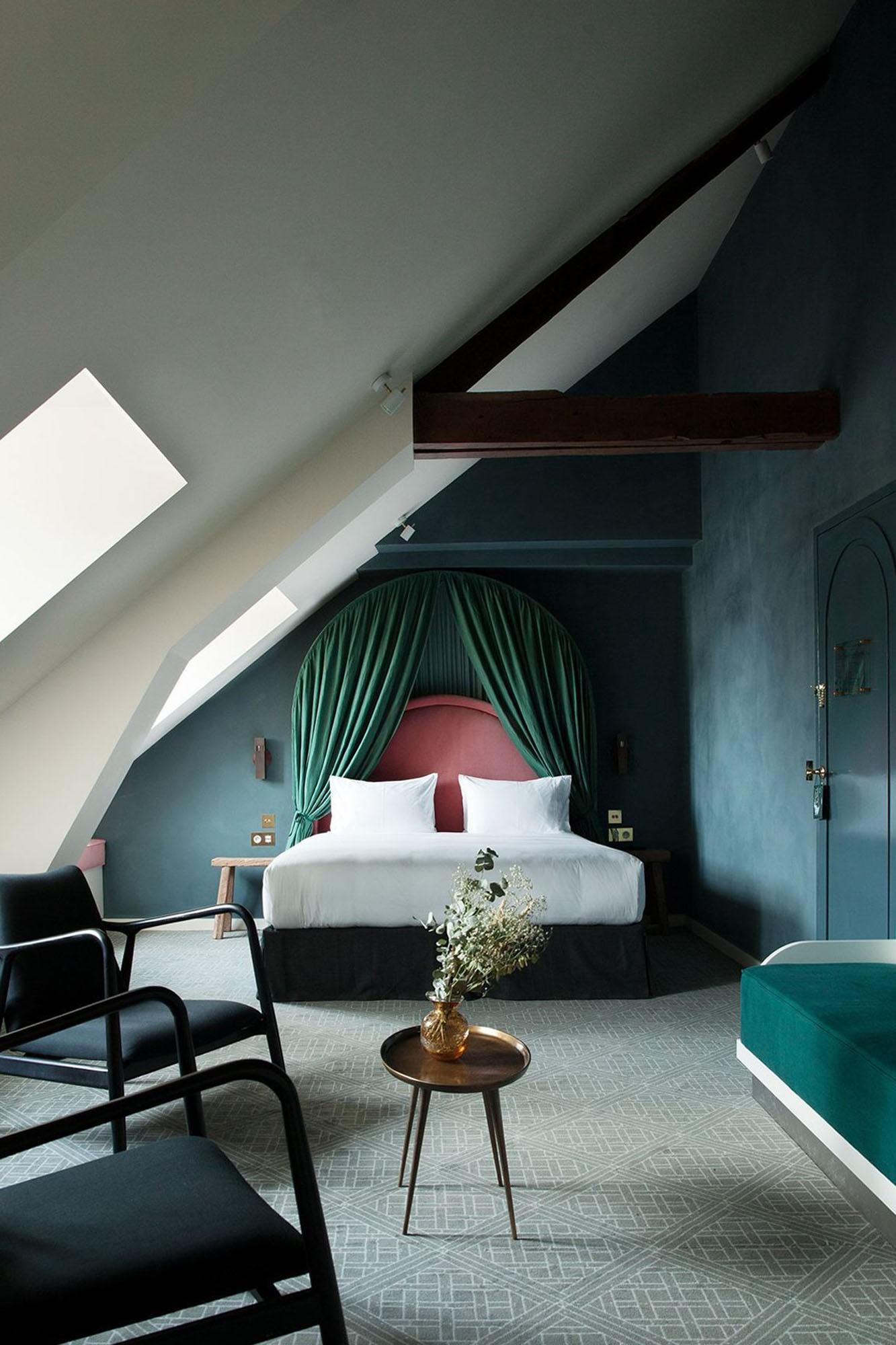 Décor do dia: quarto em tons de verde com dossel (Foto: Divulgação)