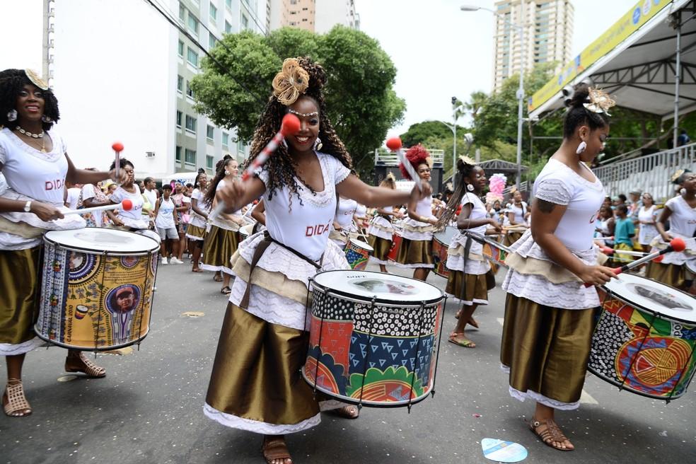 Banda Didá é uma das atrações do Carnaval dos Bairros — Foto: Sérgio Pedreira/Aghaack