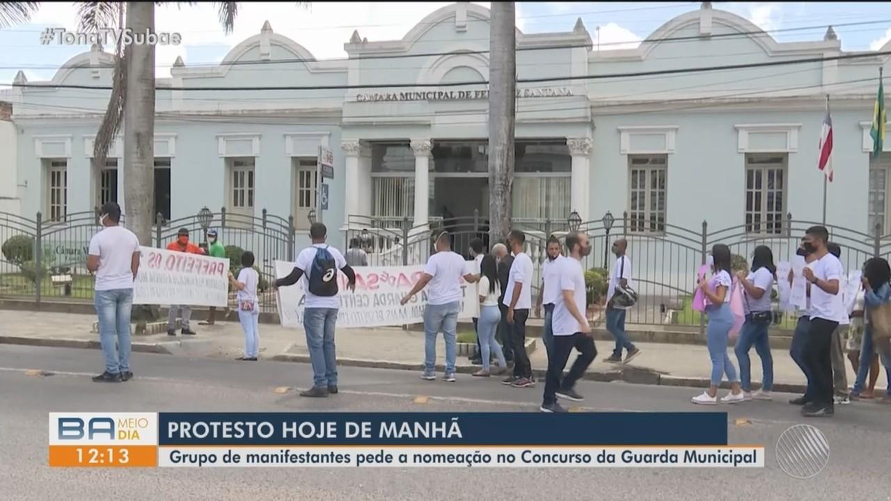 Aprovados em concurso para Guarda Civil fazem novo protesto pedindo nomeação
