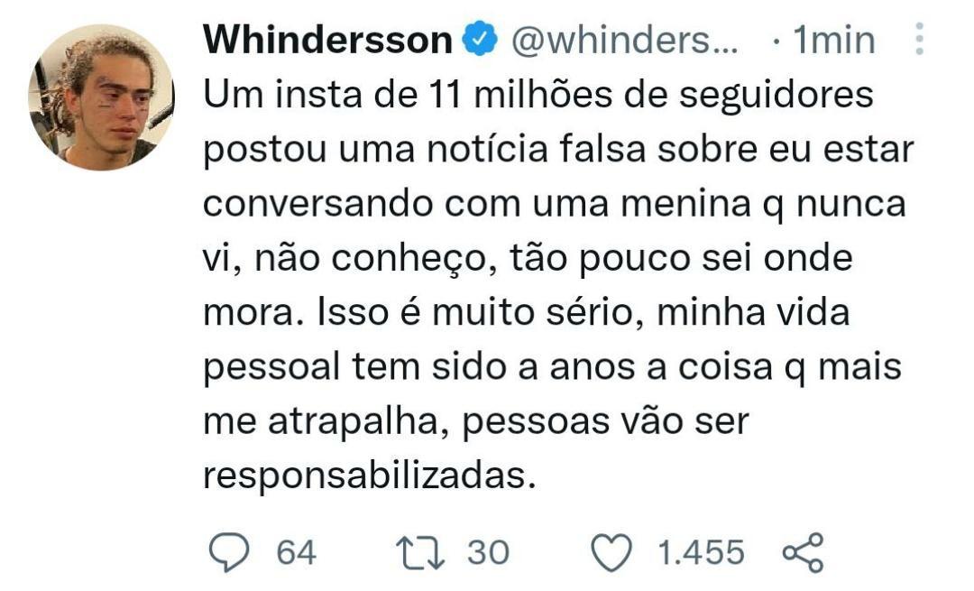 whatsapp image 2021 08 27 at 12.23.08 - Whindersson Nunes: 'Minha vida pessoal tem sido há anos a coisa que mais me atrapalha'