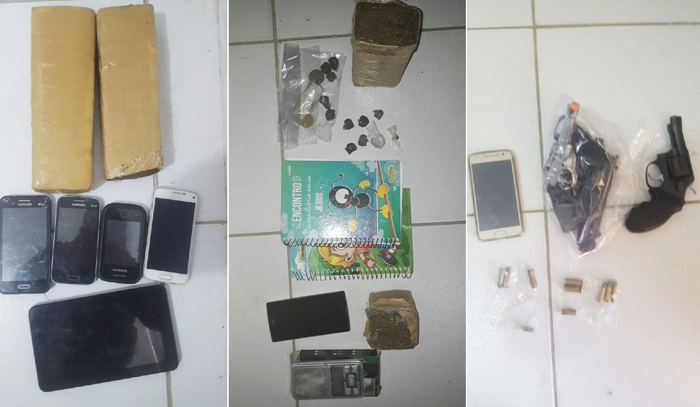 Material apreendido durante a operação em Parelhas (Foto: Polícia Civil/Divulgação)
