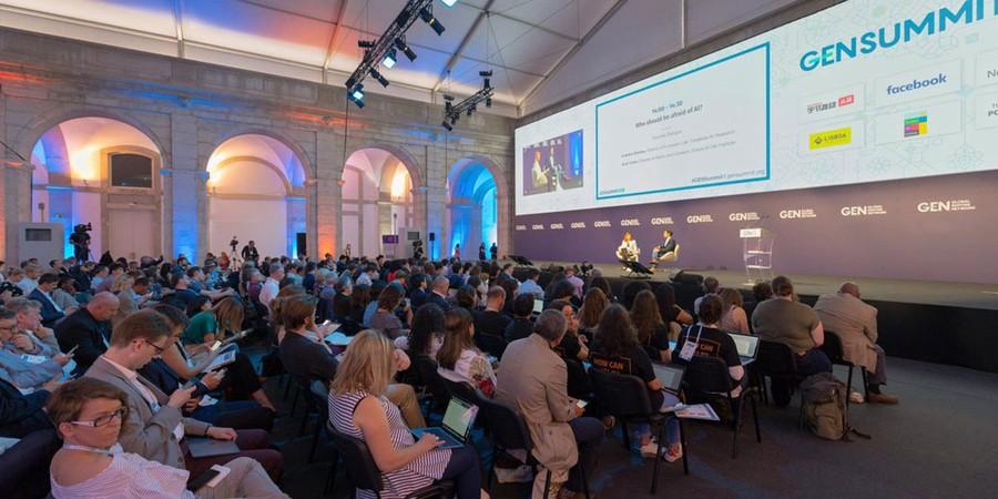 O Global Editor's Network Summit, encontro mundial de jornalistas realizado em Lisboa (Foto: Cristina Tardáguila/ Agência Lupa)