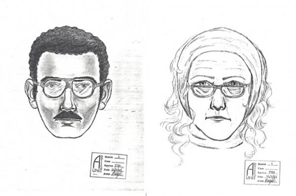 O retrato-falado do casal responsável pelo roubo de um quadro do pintor Willem de Kooning (1904-1997) no ano de 1985 (Foto: Reprodução)