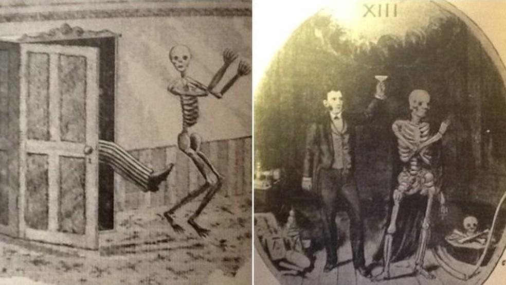 -  Documentos do Clube dos Treze faziam graça de superstições  Foto: BBC/Reprodução