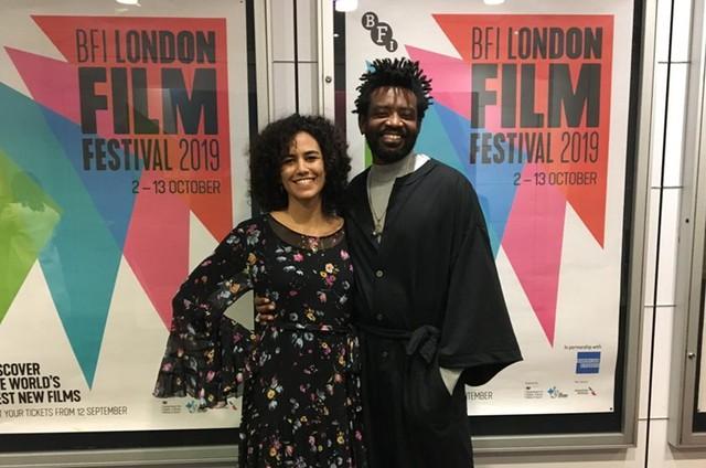 Fabricio Boliveira e Bárbara Colen no London Film Festival (Foto: Eryk Rocha)