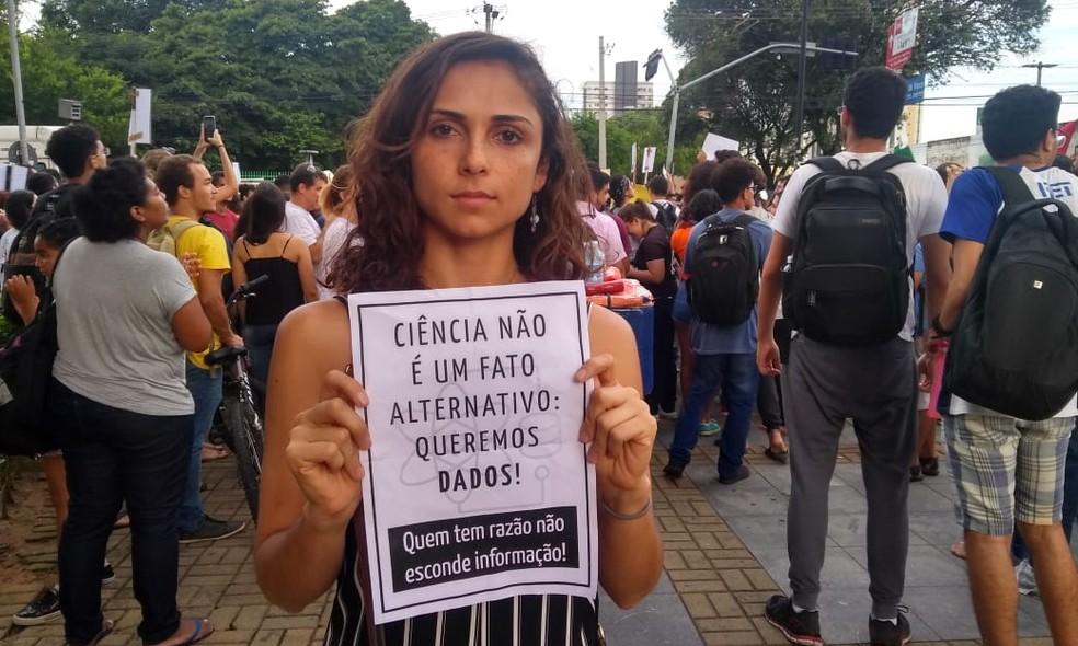 Geissy Araújo, pós-doutoranda em neurociências do Instituto do Cérebro. — Foto: Rafael Barbosa/G1