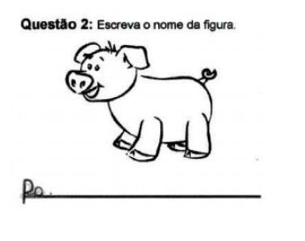Exemplo de exercício em que as crianças manifestaram dificuldade (Foto: Reprodução/Inep)