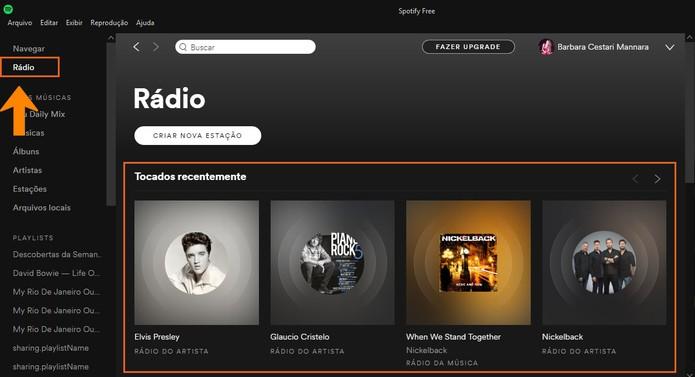 Conheça as estações de Rádio do Spotify (Foto: Reprodução/Barbara Mannara)