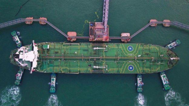 A China é o principal importador de petróleo iraniano (Foto: Getty Images/BBC)